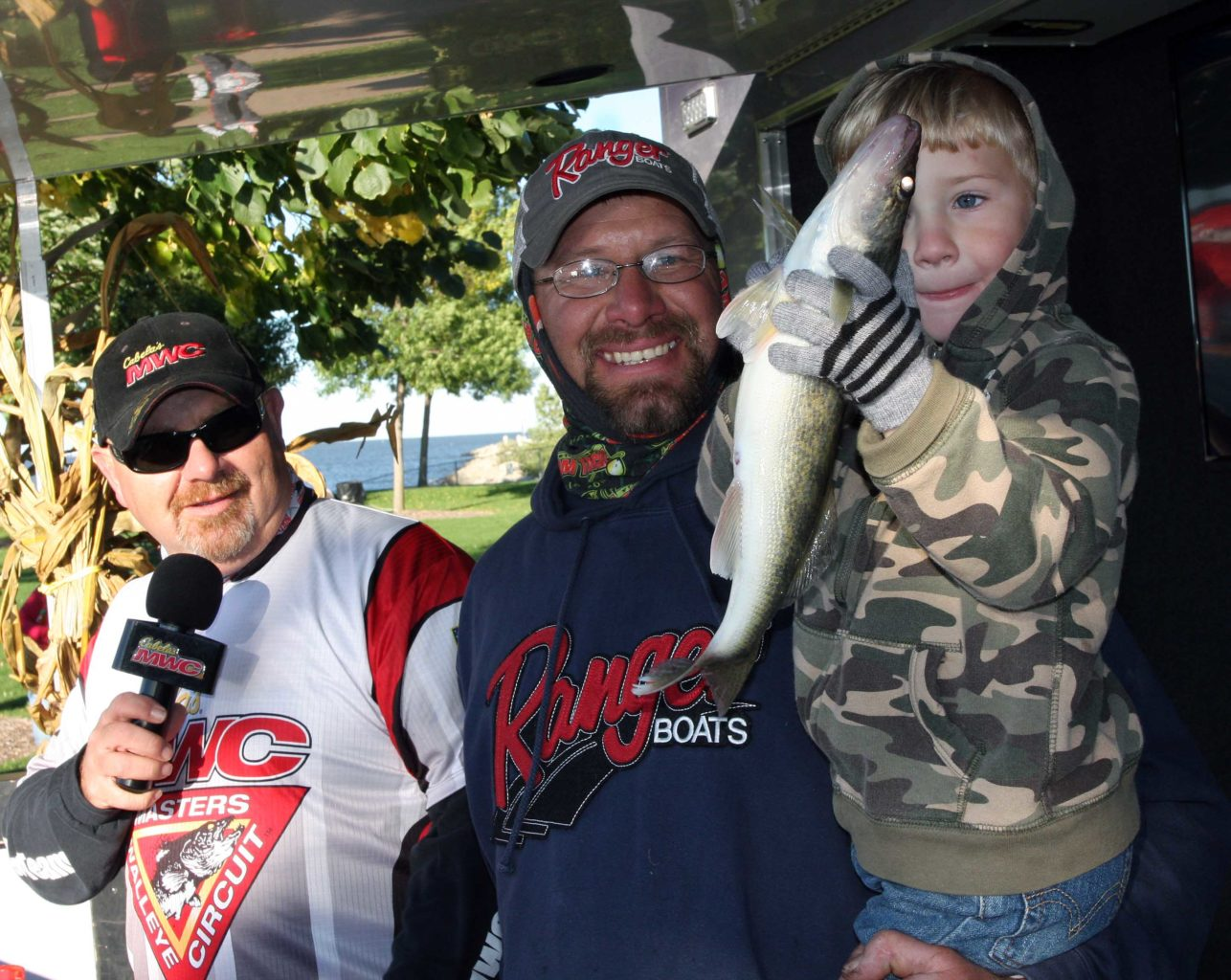 Walleye fans of all ages enjoyed the weigh-in.