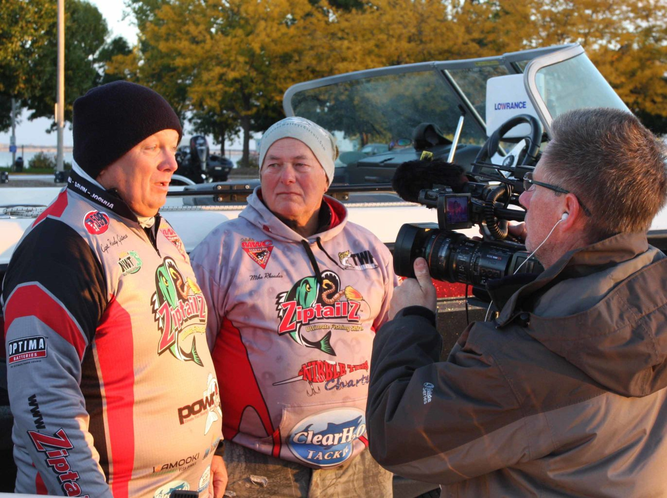 Leaders Randall Gaines and Mike Rhoades discuss day-three strategies in an interview for Federation Angler Television.